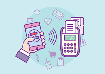 NFC Payment Illustration - Kostenloses vector #432517