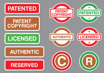 Copyright and Patent Stamp Vector Pack - Kostenloses vector #432527