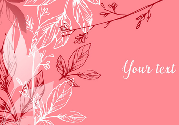 Romantic Floral Background - vector gratuit #432557