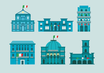 Naples City Italian Historical Building Vector Illustration - Free vector #432577