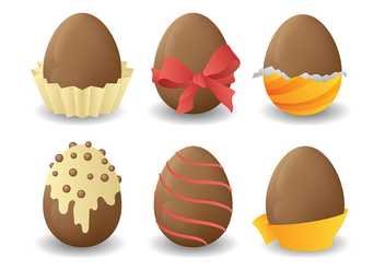Free Chocolate Easter Eggs Icons Vector - Free vector #432587
