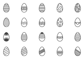 Minimal Easter Eggs Vectors - бесплатный vector #432597