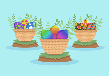 Easter Egg Vector Pack - vector gratuit #432617