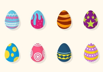 Flat Easter Egg Vectors - бесплатный vector #432637