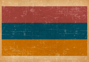 Grunge Flag of Armenia - vector gratuit #432667