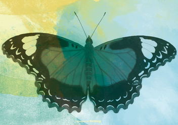 Watercolor Butterfly Background - бесплатный vector #432687
