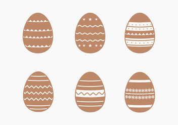 Decorative Chocolate Easter Egg Collection - vector gratuit #432697