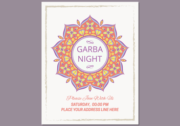 Garba Poster Template - Free vector #432717