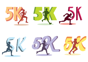 5k Run Vector - vector gratuit #432737