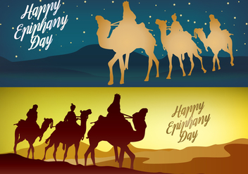 Happy Epiphany Day Banner Vectors - Kostenloses vector #432747