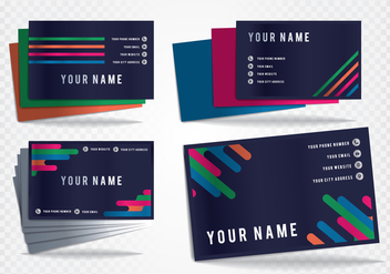 Business Card Tarjetas Vector Templates - vector #432757 gratis