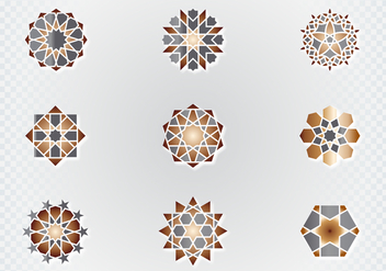 Arabic Ornamental Symbols - Free vector #432787