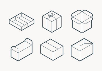 Packaging Outline Icon - vector #432797 gratis