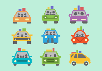 Colorful Carpool Flat Vector - Free vector #432807