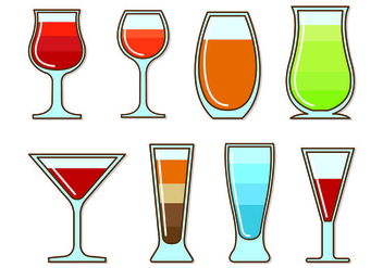 Vectors Glass Of Spritz - Free vector #432847