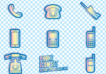 Phone Icon Symbols - Free vector #432857