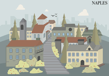 Naples City Italian Building Vector Illustration - vector #432867 gratis