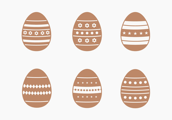 Chocolate Easter Egg Vector Collection - бесплатный vector #432877