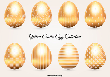Golden Easter Egg Collection - vector gratuit #432897