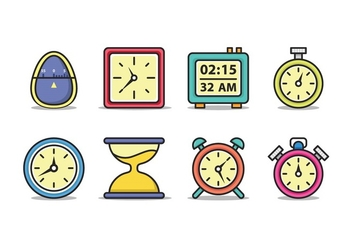Timer Icon Pack - Free vector #432987
