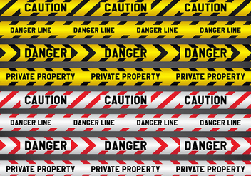 Crime and Danger Line Vectors - vector gratuit #432997
