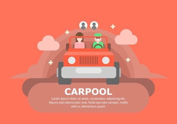 Carpool Background - vector #433017 gratis