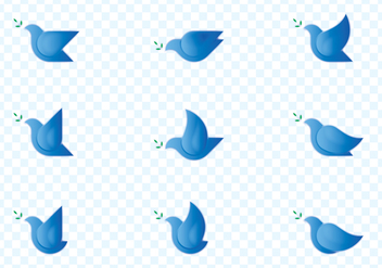 Dove Bird Logo Set - vector gratuit #433027