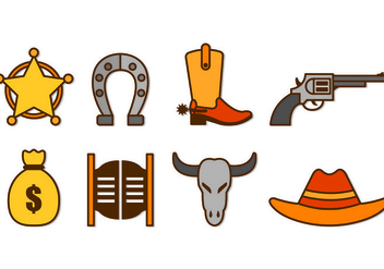 Set Of Gaucho Icons - бесплатный vector #433057