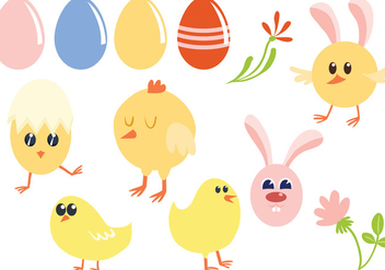 Free Easter Vectors - Free vector #433077
