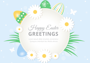 Free Easter Holiday Vector Background - vector gratuit #433107