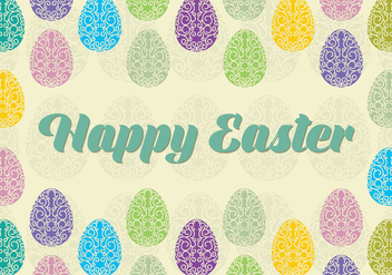 Happy Easter Background - Kostenloses vector #433147