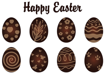 Chocolate Easter Eggs - Free vector #433177