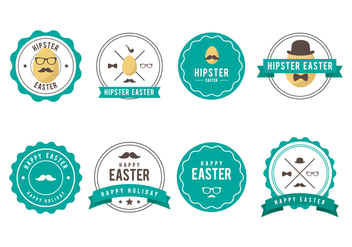 Free Hipster Easter Badge Vector Collections - Free vector #433207