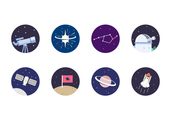 Outer Space Icon - Free vector #433267