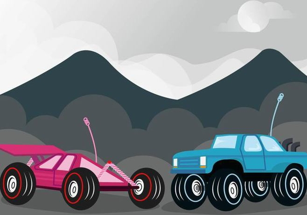 Rc Car Competition Vector - Free vector #433307