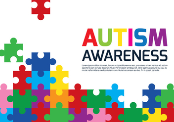 Autism Puzzle Poster - Kostenloses vector #433377