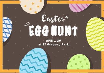 Free Easter Egg Hunt Card - бесплатный vector #433417