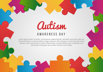 Free Autism Awareness Day Card - vector gratuit #433427