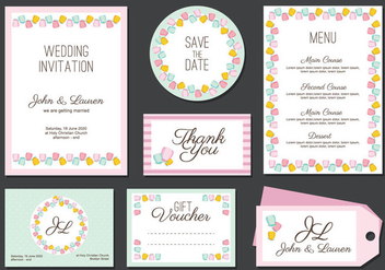 Boda Invitation Card Vector - vector gratuit #433517
