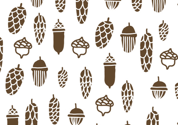 Brown Pine Cones Pattern - vector #433567 gratis