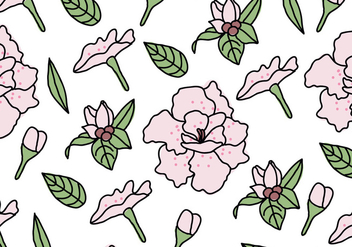Rhododendron Pattern - Free vector #433577