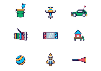 Vector Pack of Kids Toys - Free vector #433627