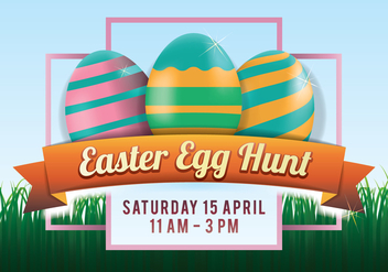 Easter Egg Hunt Poster - Free vector #433667