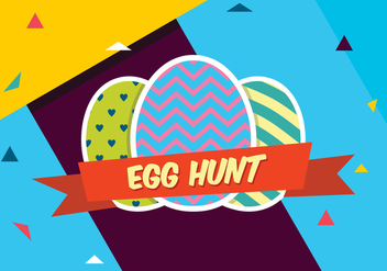 Colorful Easter Egg Hunt - бесплатный vector #433677