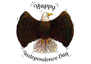 Watercolor Blag Eagle Patriotic Symbol To Independence Day - Free vector #433697