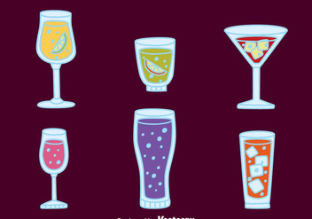 Fizz Drink Cocktail Vectors - Free vector #433717