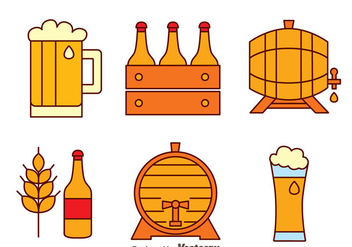 Beer Element Vectors - бесплатный vector #433737