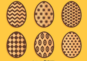 Chocolate Easter Eggs On Orange Vectors - Kostenloses vector #433767