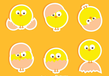 Nice Easter Chick Vectors - Free vector #433777