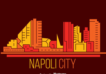 Napoli City Skyline Vector - бесплатный vector #433787